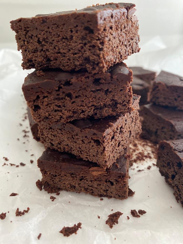 Healthy, sugar-free, lactose-free brownies