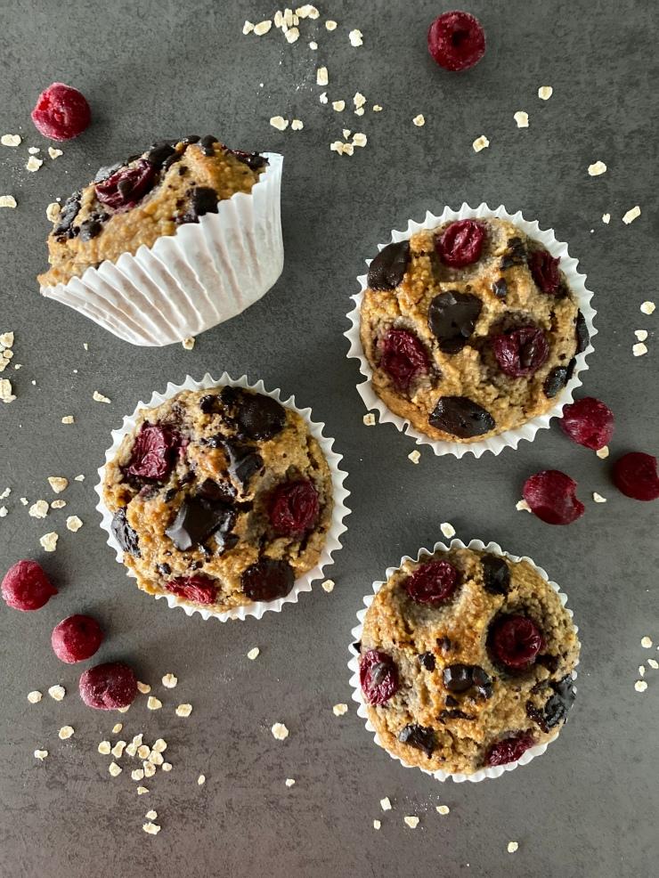 Cherry Muffins With Chocolate