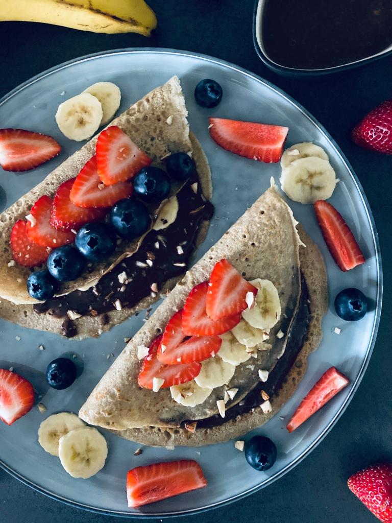 Buckwheat Pancakes with Chocolate Sauce