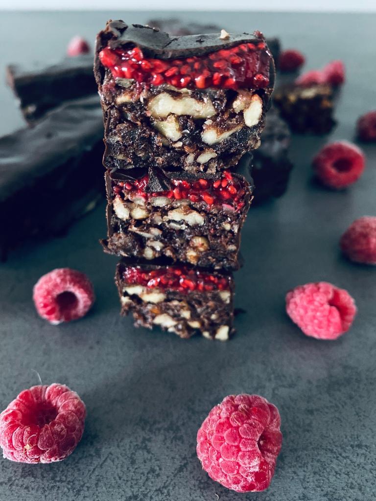 Raspberry Chocolate Energy Bars