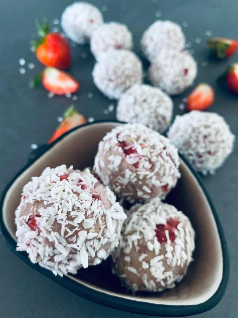 Strawberry Energy Balls