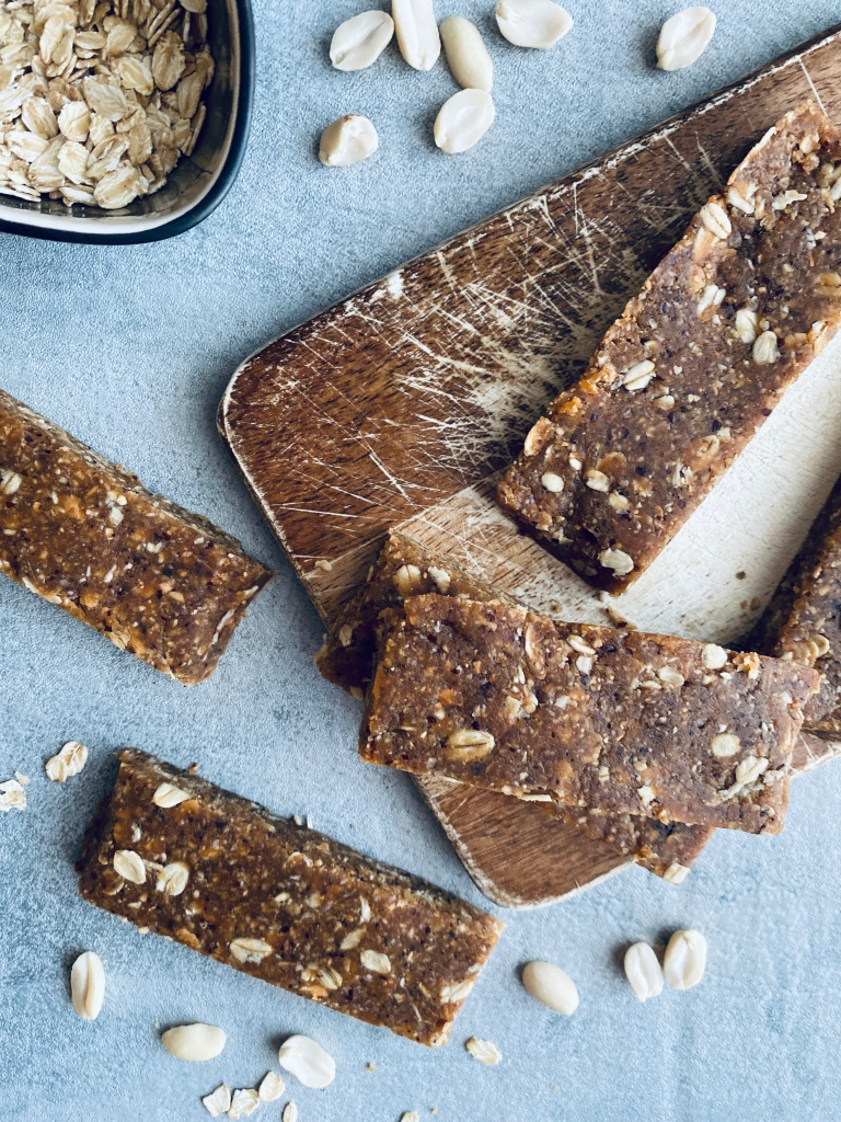 Peanut Protein Bars No-Bake and Sugar-Free